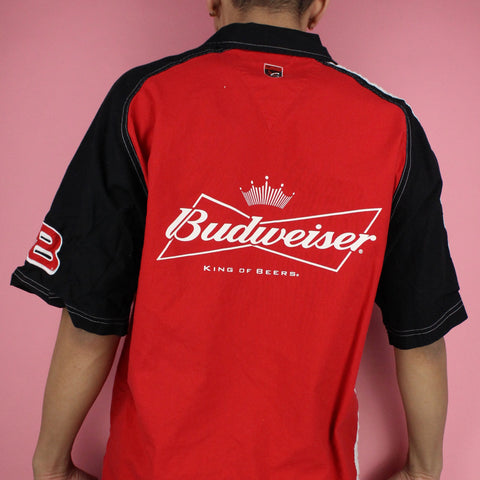 90s Dale Earnhardt Jr Budweiser Button-up Shirt