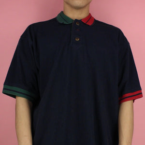 1990s Cutter & Buck Tri-Color Polo Shirt
