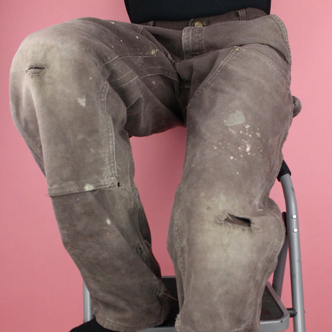 90s Distressed Gray Carhartt Carpenter Pants