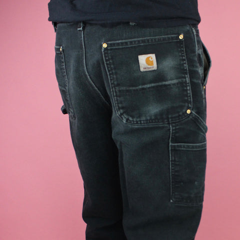 90s Distressed Black Carhartt Carpenter Pants