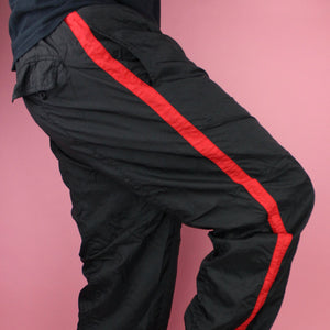 90s Nylon Red Stripe Sweatpants