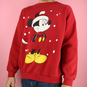 90s Mickey Mouse Christmas Sweater