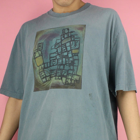2000 Unique Blue Fish T-shirt