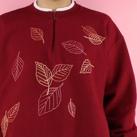 1990s Morning Sun Double sided Leaf Sweater