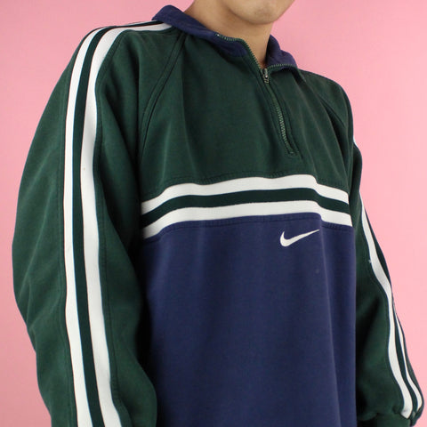 1990s Vintage Nike Color Block Sweater