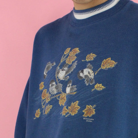 1990s Birds in The Wind Sweater