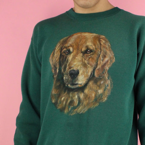 Early 90s Dog Portrait Sweater