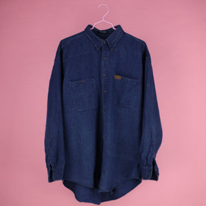 90s Chaps RL Denim Button-up