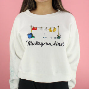90s Mickey on a Line Sweater