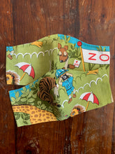 Load image into Gallery viewer, Vintage Zoo Animals Face Mask Youth (3-6 yrs)