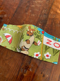 Vintage Zoo Animals Face Mask Youth (3-6 yrs)