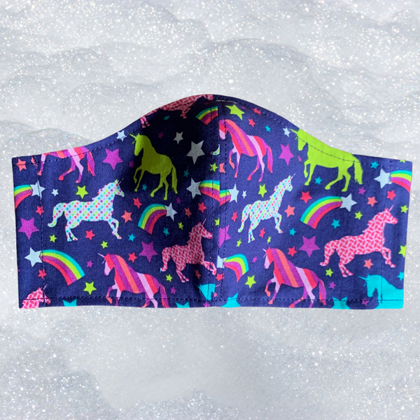 Unicorn Face Mask - ADULT/TEEN