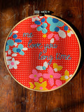Me Love You Long Time Hand Embroidered Hoop