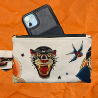 Lucky Tattoo Wristlet Phone Size