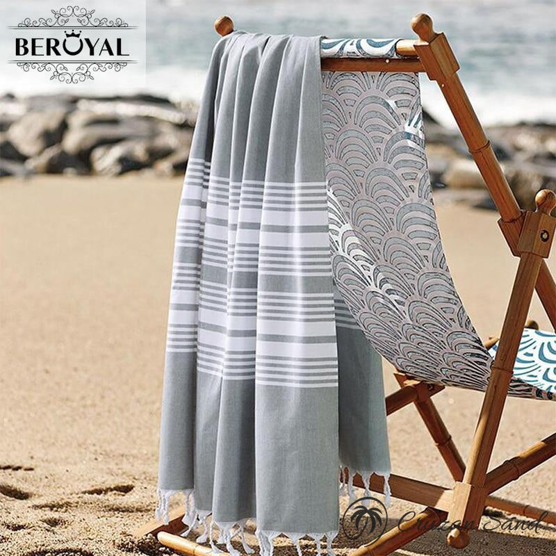 100% Cotton Turkish Super Soft Quick Dry Bath Towel-Towel-Cruzan Sand-dark blue-75x140cm-Cruzan Sand