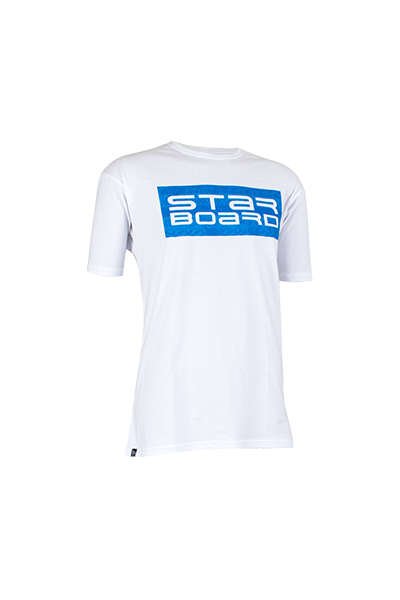 2019 STARBOARD MENS PAINT TEE - WHITE