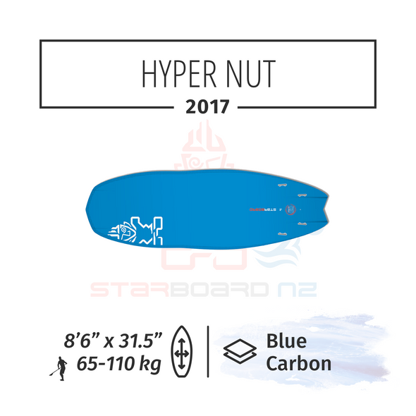"2017 8'6"" X 31.5"" HYPER NUT BLUE CARBON"