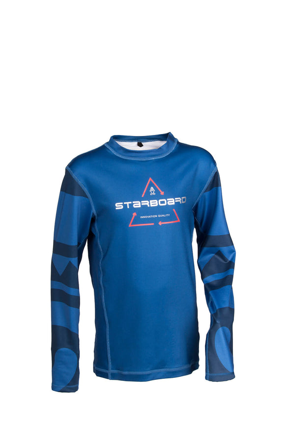2019 STARBOARD BOYS LYCRA TOP - TEAM BLUE - 9-10
