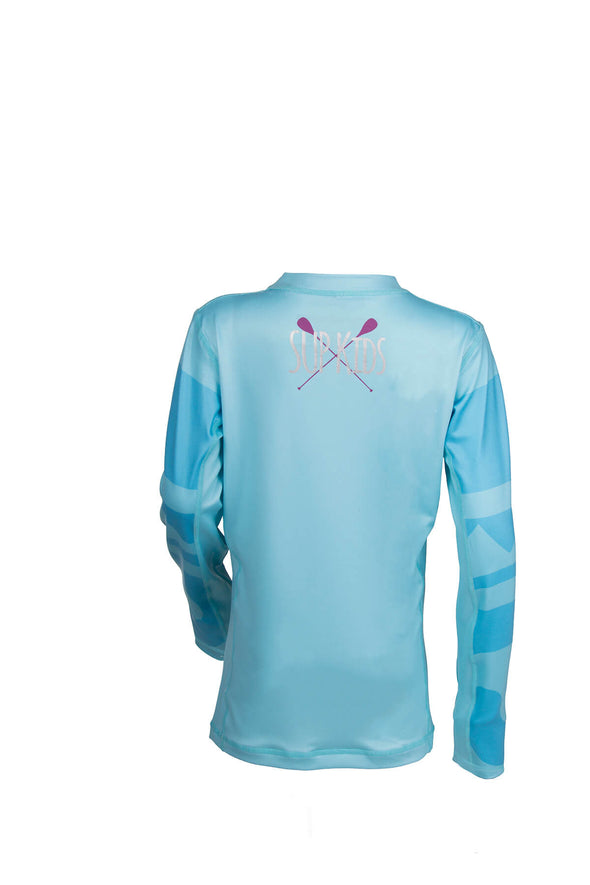 2019 STARBOARD GIRL LYCRA TOP - BLUE - 9-10