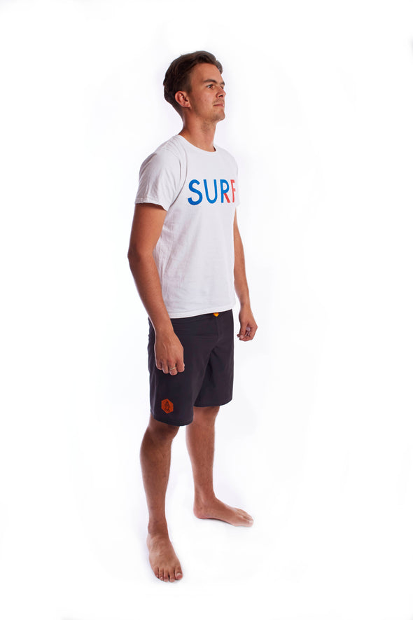 2019 STARBOARD MENS SURF TEE - WHITE