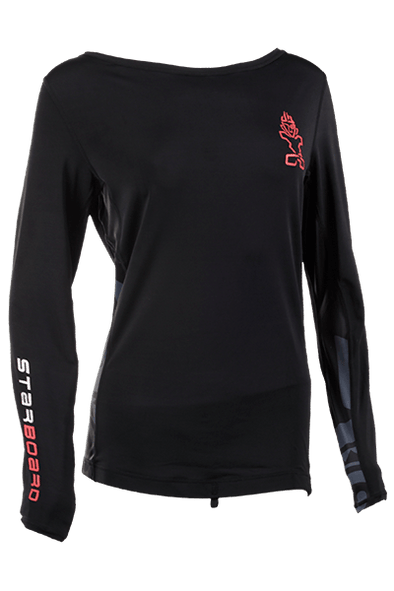 2019 STARBOARD WOMENS LONG SLEEVE LYCRA - BLACK - XL