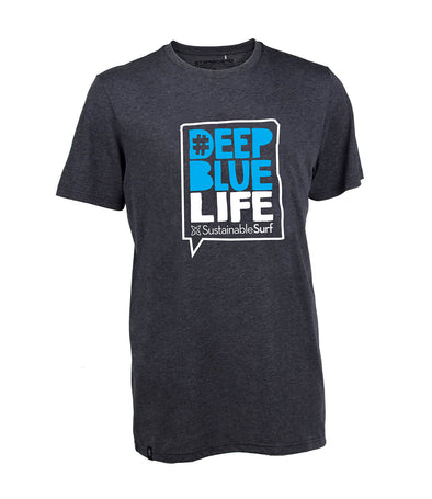 2019 STARBOARD MENS DEEP BLUE LIFE TEE - BLACK