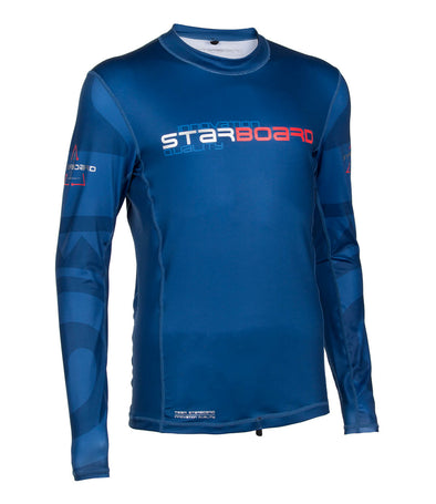 2019 STARBOARD MENS LONG SLEEVE LYCRA - TEAM BLUE - L