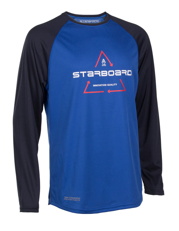 2019 STARBOARD MENS LONG SLEEVE WATERSHIRT - TEAM BLUE - M