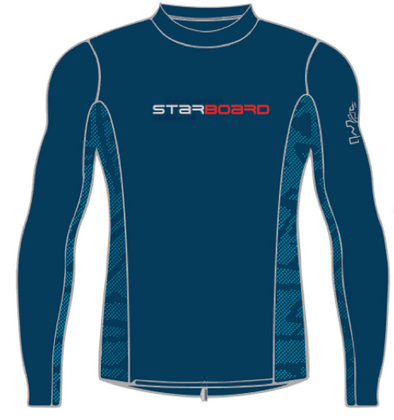 STARBOARD BOYS LYCRA TOP - TEAM BLUE