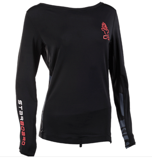 2019 STARBOARD WOMENS LONG SLEEVE SUIT LYCRA - BLACK -  M - TEAM