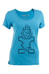 2019 STARBOARD WOMENS TIKI TEE - LIGHT BLUE