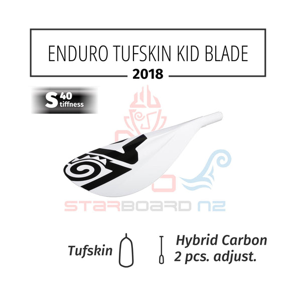 ENDURO TUFSKIN KIDS PADDLE WITH 2PCS HYBRID S40 SHAFT