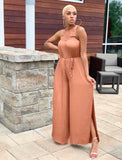 Clay Pleated Jumpsuit