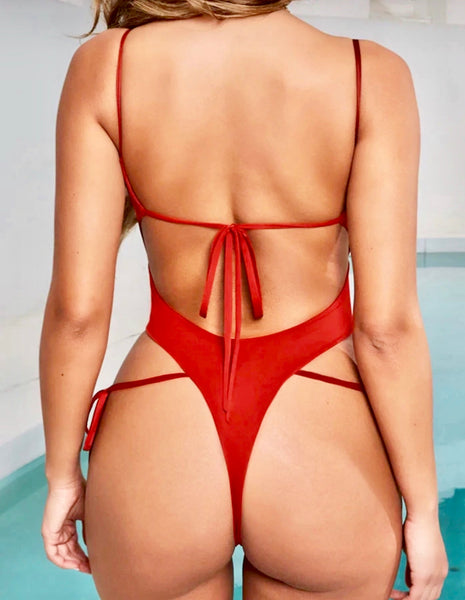 Rebel Monokini-Red