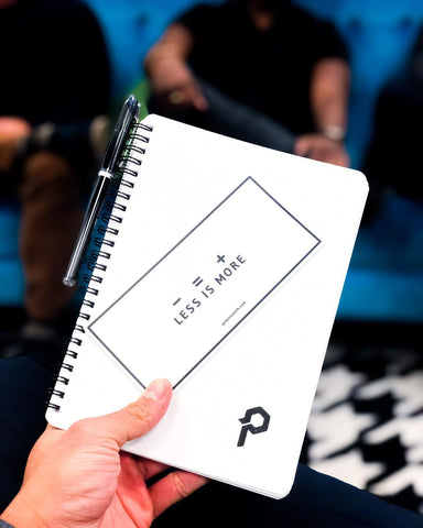 "The Polymath Planner and ""Less is More"" sticker"