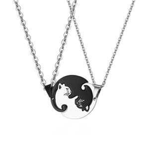 Couple's Cat Necklace Set