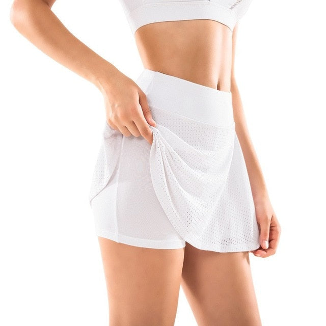 High Waist Double Layer Skort