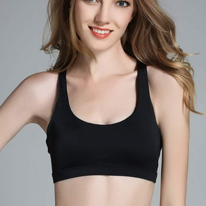 Cross Back Active Wear Crop