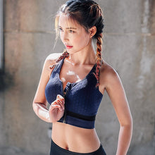 High Impact Zipper Front Sports Bra