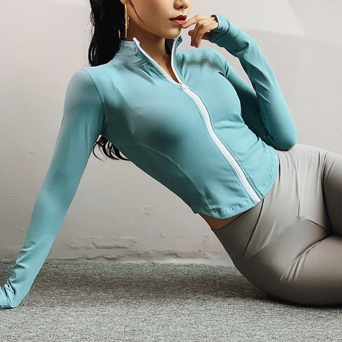 Long Sleeve Zip Up Yoga Shirt