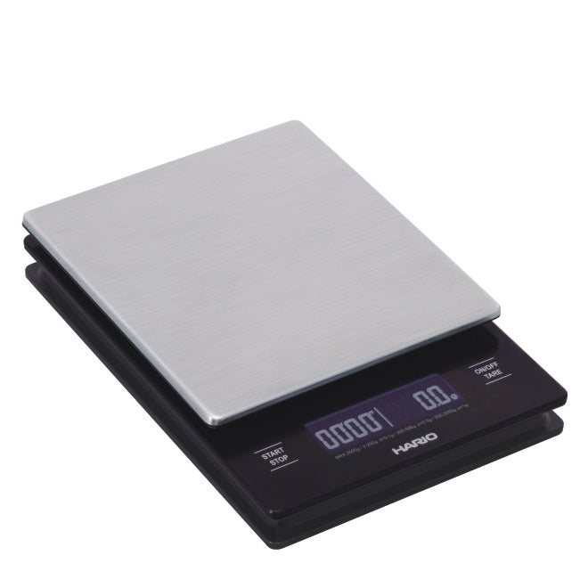 Hario Waage V60 Metal Drip Scale mit Timer, VSTM-2000HSV