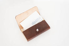 Load image into Gallery viewer, Wood + Leather Card Case