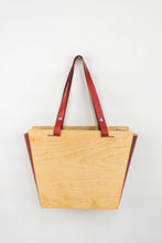 Load image into Gallery viewer, Wood + Leather Tote