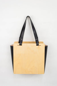 Wood + Leather Tote