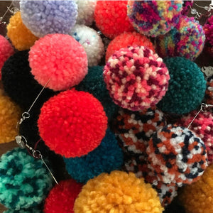 Pom Pom Earrings • Medium Solid (click for more colors)