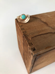 Semicircle Turquoise Ring