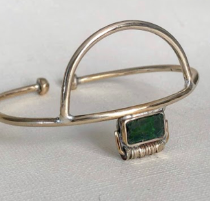 Emerald Glass Cuff