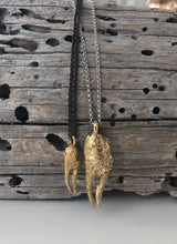 Load image into Gallery viewer, Petite Claw Brass Necklace