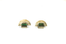 Load image into Gallery viewer, Aventurine Crescent Earrings