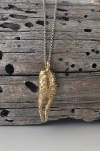 Grande Claw Brass Necklace
